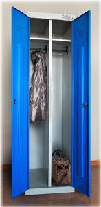 Металлический шкаф для одежды ШРЭК 21-500