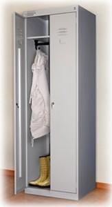 Металлический шкаф для одежды ШРК-22