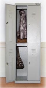 Металлический шкаф для одежды ШРК-24