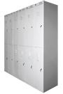 Металлические шкафы для одежды двухдверные модульные ШРС